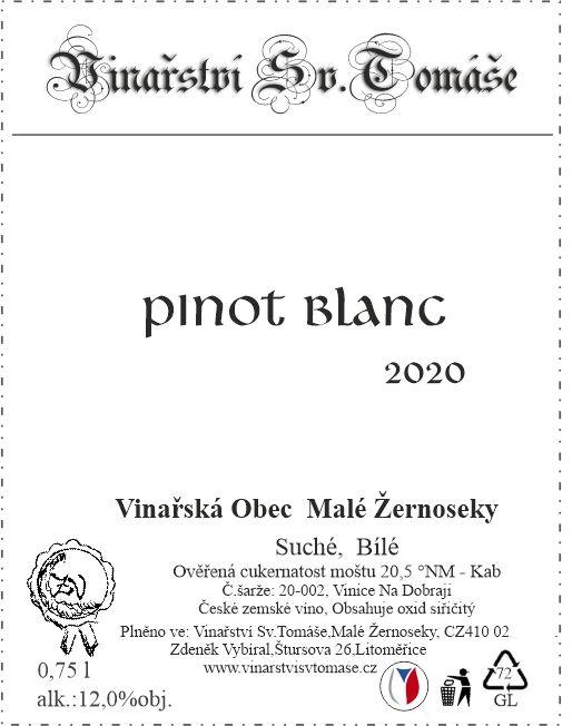 Pinot Blanc 2020 suché