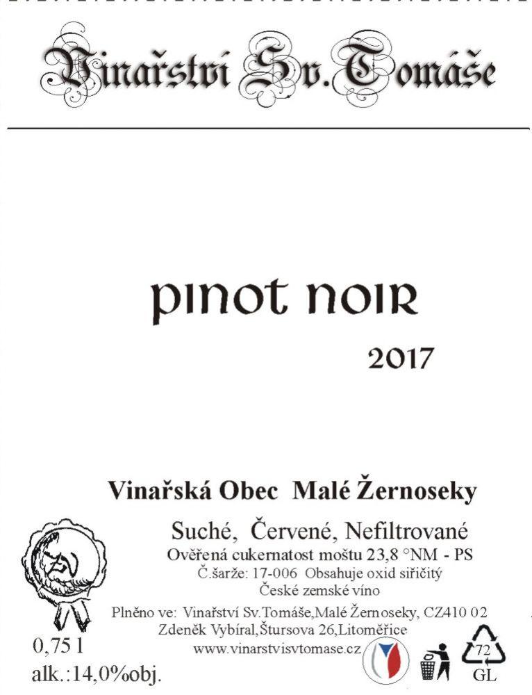 Pinot Noir 2017 suché